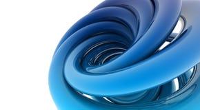 form för spiral 3D Royaltyfri Bild