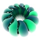 form för spiral 3D Arkivfoton