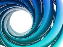 form för spiral 3D Arkivbild