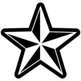 Form för stjärna för symbol för stjärna för stjärnasymbolvektor vektor illustrationer