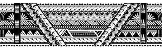 Form för tatuering för maoristilarmbindel vektor illustrationer