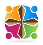Form för teamworkfolkkors Royaltyfri Foto