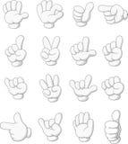 Form för tecknad filmsamlingshand vektor illustrationer