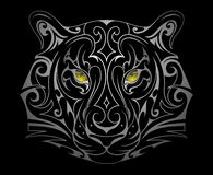Form för tigerhuvudtatuering vektor illustrationer