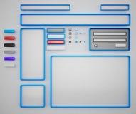 Form för webbsidor Arkivbilder