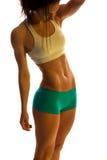 Form för muskulös kropp för byggmästare för kvinnlig kropp Arkivbild