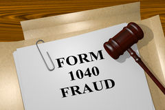 Form 1040 Fraud concept Royalty Free Stock Image