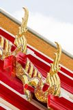 The form of gable apex on the roof. Of a beautiful Thai temple royalty free stock image