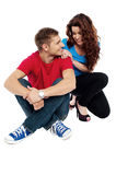 We form a great couple. Love each other Stock Images