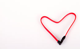 Form of heart cabel Royalty Free Stock Photography