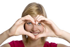 Form of heart shaped by hands Stock Images