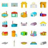 Form icons set, cartoon style Stock Photo