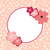 Form for Invitation or Greeting Card. Flower Background. Stock Photography