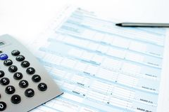 Form for Italian taxes royalty free stock image