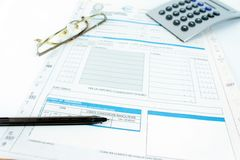 Form for Italian taxes Royalty Free Stock Photography