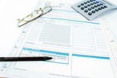 Form for Italian taxes Royalty Free Stock Photography