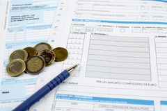 Form for Italian taxes Stock Photo