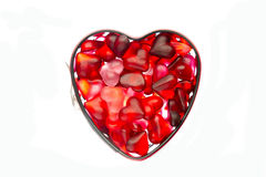 Form with jelly heart Royalty Free Stock Photos
