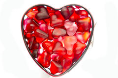 Form with jelly heart Stock Image