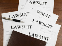 The form of the lawsuit is on the table Royalty Free Stock Photography