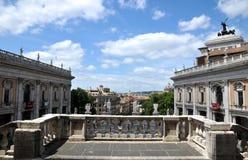 Form Pallazzo Senatorio Capitoline Hill Piazza Del Campidoglio Stockfoto