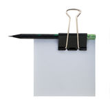 Form pencil paper clip index Stock Images