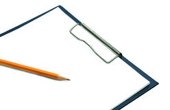 The form for records with a pencil. On a white background Royalty Free Stock Photo