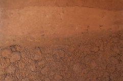 Form of soil layers,its colour and textures Stock Image