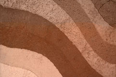 Form of soil layers,its colour and textures. Texture layers of earth Royalty Free Stock Photos
