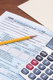 Form 1040 for 2014 tax year Stock Photo
