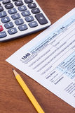 Form 1040 for 2014 tax year Stock Photos
