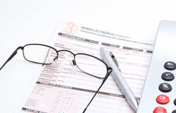 Form for taxes Stock Images