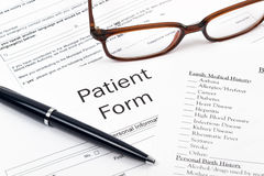 Form to supply medical information Royalty Free Stock Photos