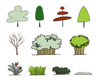 Form of tree. For presentation and design work Royalty Free Stock Images
