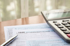 Form 1040, U.S. Individual income tax return Royalty Free Stock Photo