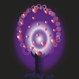 Form-Vektorhintergrund des Valentinsgrußes tree Lizenzfreie Stockfotos