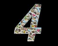 Form von 4 Abbildung - Collage der Fotos Stockfoto
