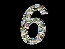 Form von 6 Abbildung - Fotocollage Stockbilder