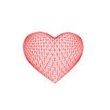 In Form von dem Herzen lokalisiert Stockbilder