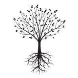 Form von schwarzen Bäumen Auch im corel abgehobenen Betrag Lizenzfreie Stockfotos