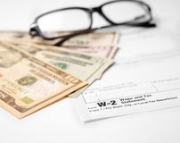 Form W-2 Wage and Tax Statement Royalty Free Stock Photo