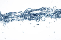 The form of water. Water on a white background Royalty Free Stock Images