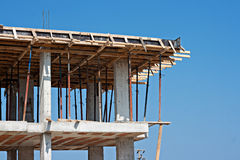 Form work on building under construction Royalty Free Stock Photography