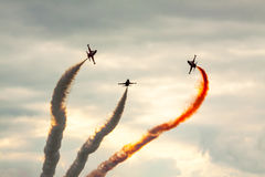 Formação acrobática do festival aéreo fotos de stock royalty free