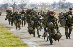 Formação armada das forças especiais Imagem de Stock