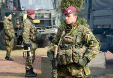 Formação armada das forças especiais Fotos de Stock Royalty Free