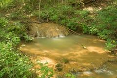 Formação da água do travertino - 3 imagem de stock