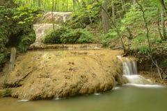 Formação da água do travertino - 2 fotografia de stock