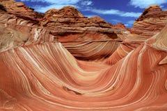 A formação da areia do Navajo da onda no Arizona EUA Imagem de Stock