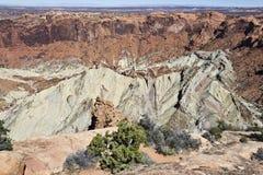 Formação da cratera de Syncline Imagens de Stock